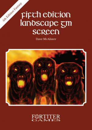 Fifth Edition Landscape GM Screen