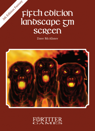 Fifth Edition Landscape GM Screen