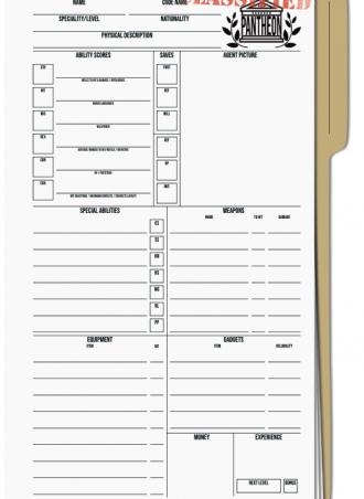 Modus Operandi Character Sheet